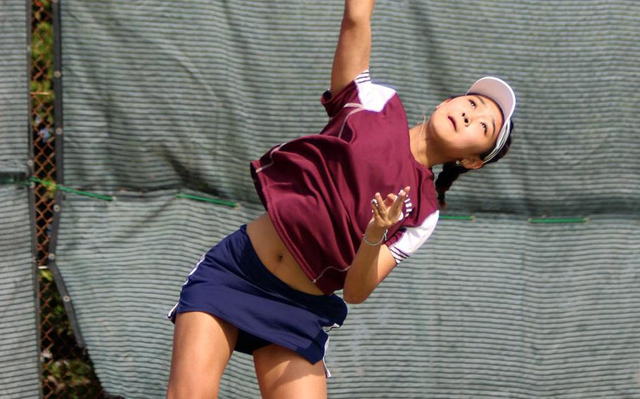 Seisen senior Sarah Omachi stood tall yet again, winning the Far East tennis tournament girls singles and doubles titles for a second straight year, and the latter title for a third time.
