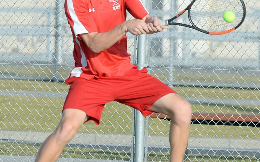 Nile C. Kinnick senior Daniel Posthumus became the first DODEA-Pacific player to reach the boys singles final of the Far East tennis tournament in nine years.