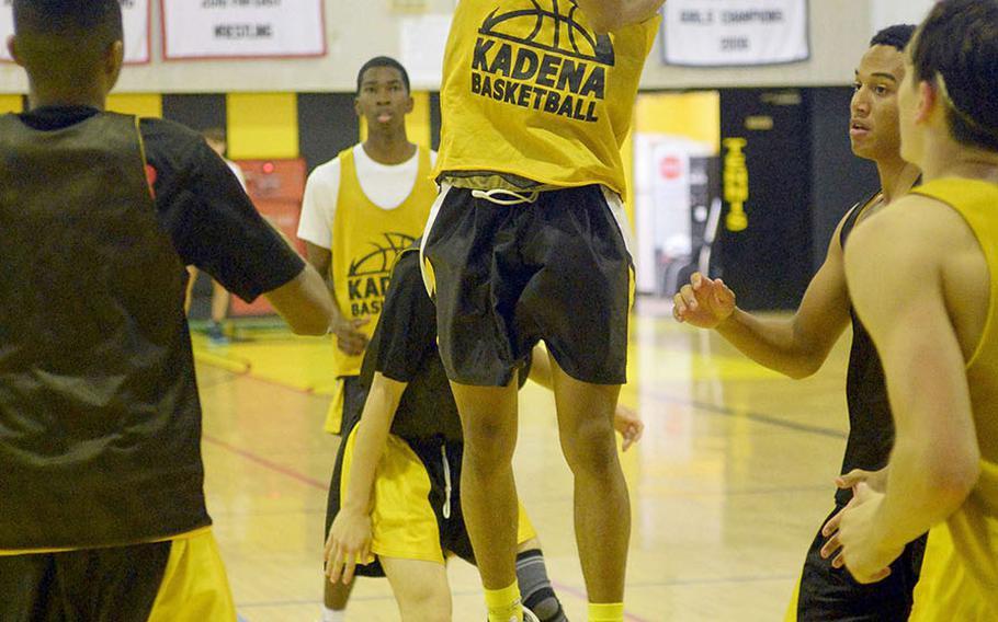 Kai Harris is one of three Kadena senior returners.