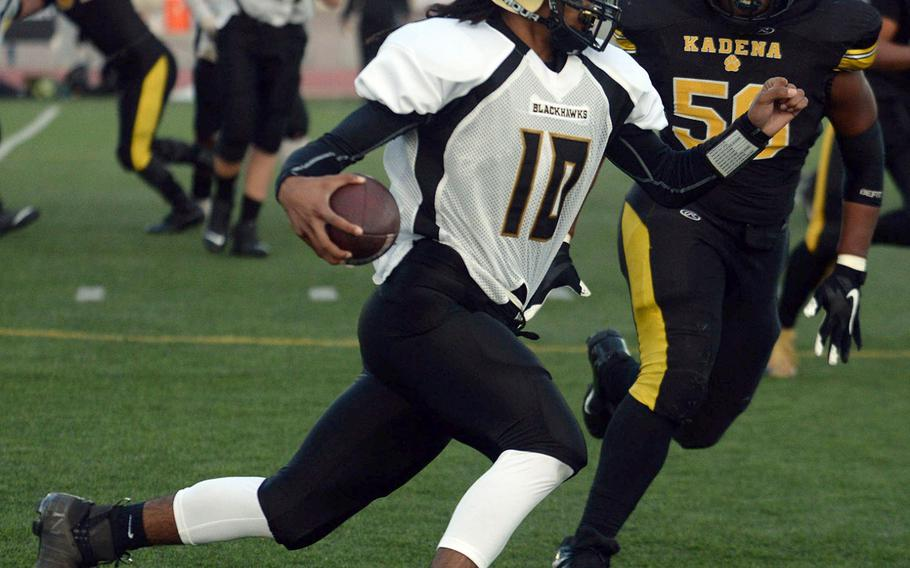 Humphreys' quarterback Deontaye Gregory is one of the seniors who might not get an opportunity to play football in his final year as a student-athlete.
