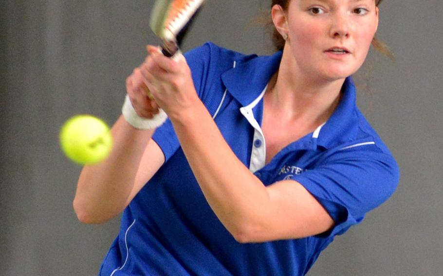 Alexandria Bohn at the DODEA-Europe tennis championships, Thursday Oct. 26, 2017.