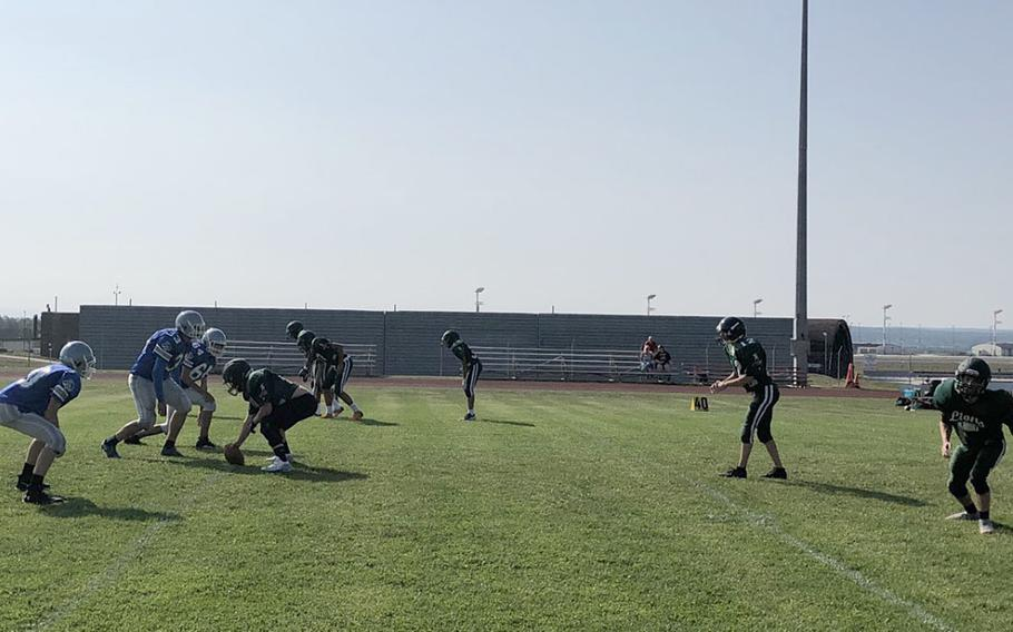 Brussels and AFNORTH, once a merged Division II program now entering their second season as Division III rivals, face off in a preseason football scrimmage Saturday, Aug. 31, 2019, at Spangdahlem Air Base, Germany.