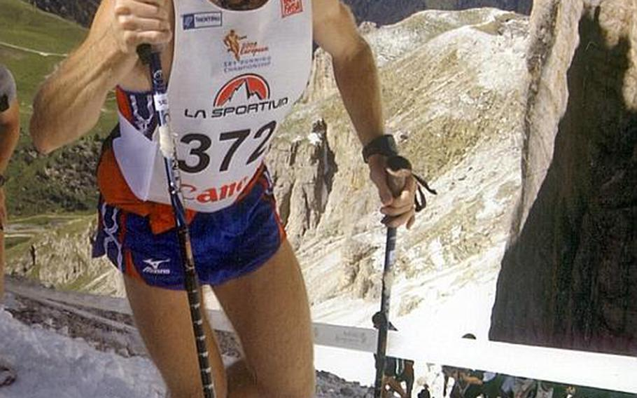 Tech. Sgt. Donnie Gray, shown competing in last year's  Dolomites Skyrace, finished this year's competition in 2 hours and 29 seconds Sunday. Gray, stationed at  Aviano Air Base, Italy, was 95th among 544 finishers, an improvement from last year's 135th place. Also competing this year was Senior Airman Jeremy Duddles, who finished the 16.3 kilometer course that rose more than 1,000 meters in 2:20:26.