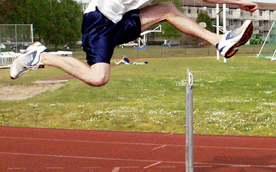 Ramstein hurdler Jacob Palmer has set his sights on DODDS-Europe records in the 110-meter and 300-meter events.