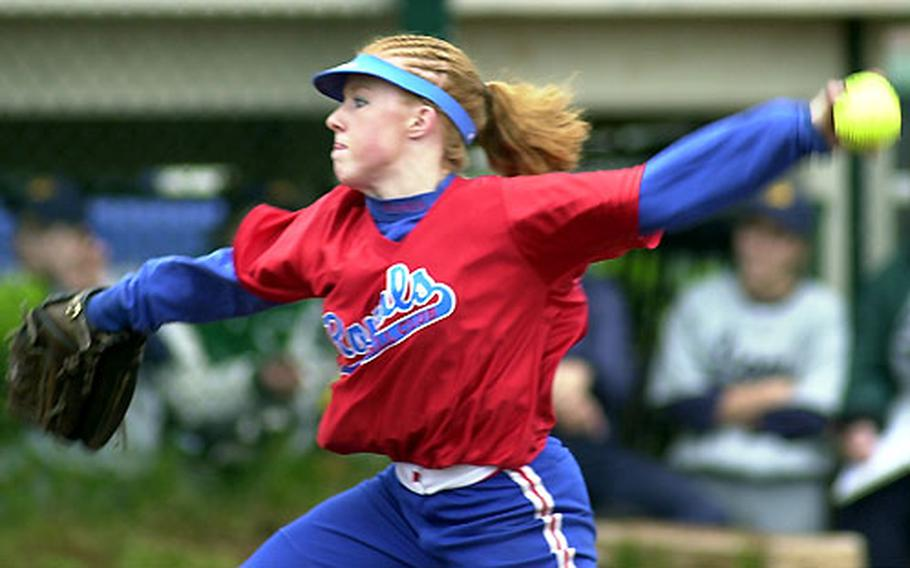 Ramstein's Jen Morton is 6-0 with a 0.47 ERA and 40 strikeouts this season.