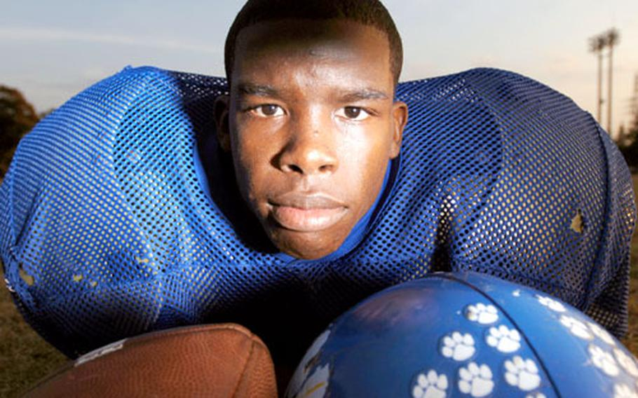 Sophomore running back Anthony McNeill, just 5 feet 3 and 125 pounds, has become the giant of the Yokota Panthers' ground-oriented offense, gaining 665 yards and scoring three touchdowns on 81 carries for the seven-time Japan Football League champions.