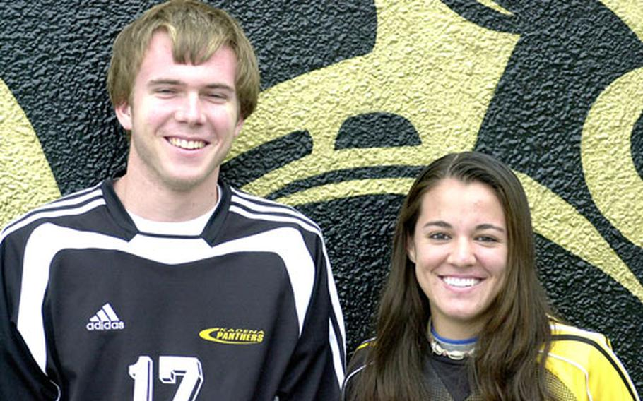 Kadena center-midfielder Nathan LaGrave, left,has committed to play for Bucknell, while center-midfielder Dianne Abel will suit up for Winthrop.