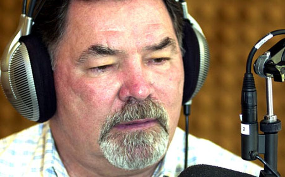 """Ron Swoboda, outfielder for the 1969 World Series champion New York Mets, reminisces about his playing days for the """"Miracle Mets"""" during a radio interview Thursday on Wave 89.1-FM at AFN-Okinawa's studios."""