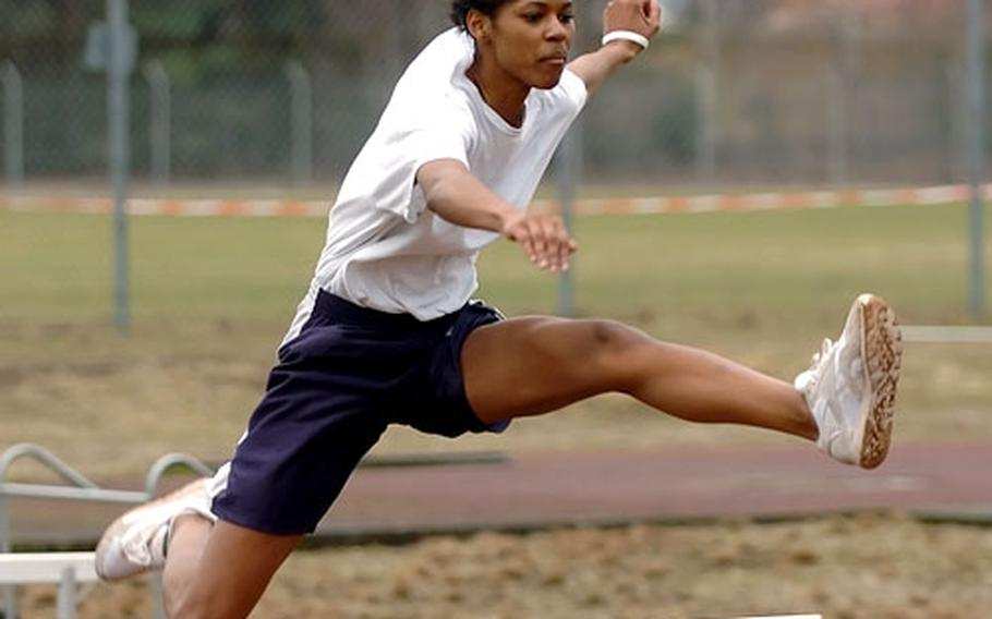 Michelle Brown is the two-time defending European champion in the 100-meter intermediate hurdles, the reigning European long-jump champion, and a former triple jump champ — all titles earned while at Naples High School. Now she has taken her skills to Hanau, where she is off and running on another strong season.