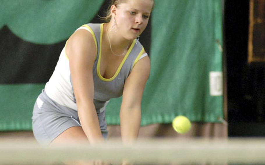 Defending girls champion Krista Citkovska of SHAPE advanced to this year's final with a 6-0, 6-0 victory in the semifinals over Heidelberg's Chelsea Cotter.