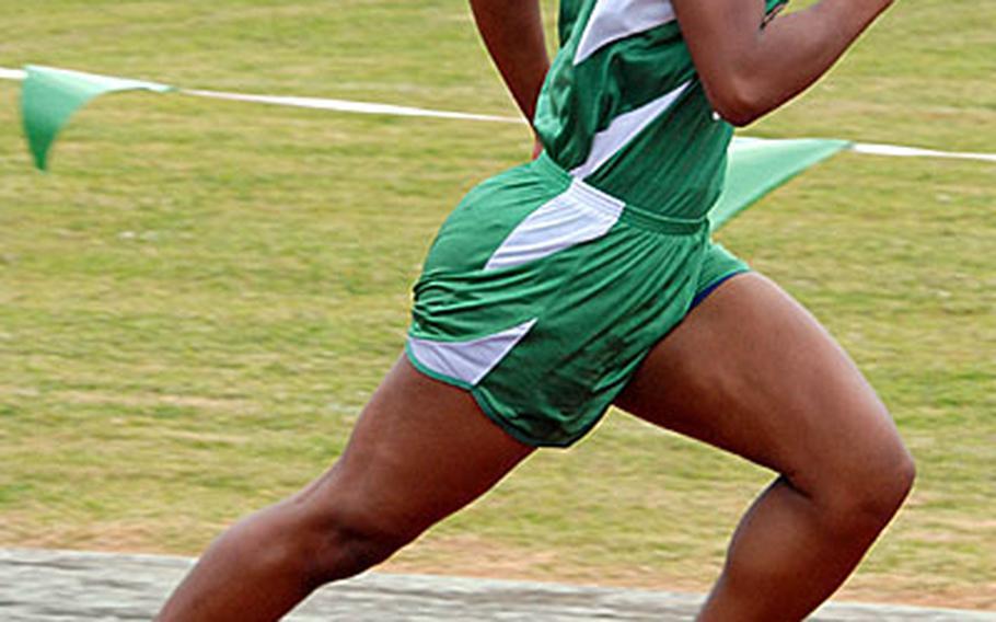 Kubasaki's M.J. Townsel sprints toward the finish during Saturday's 1,600-meter sprint medley.