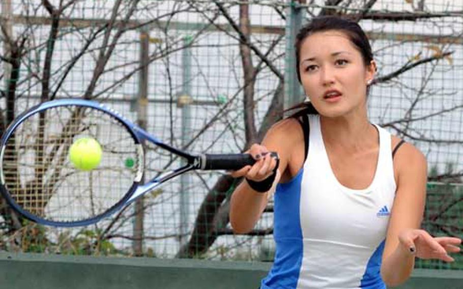 Yokota freshman singles star Erika Youngdahl became the first DODDS-Japan player to win a Kanto Plain Association of Secondary Schools tournament title.