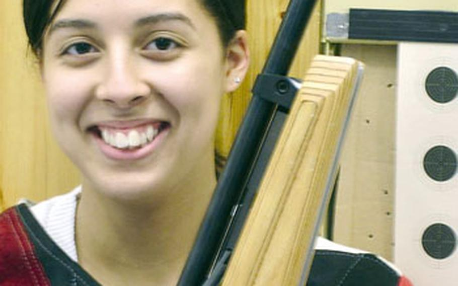 Jessica Walloch of Hohenfels, the top individual shooter in last year's DODDS-Europe marksmanship championship,is back this season to lead another strong Hohenfels team.