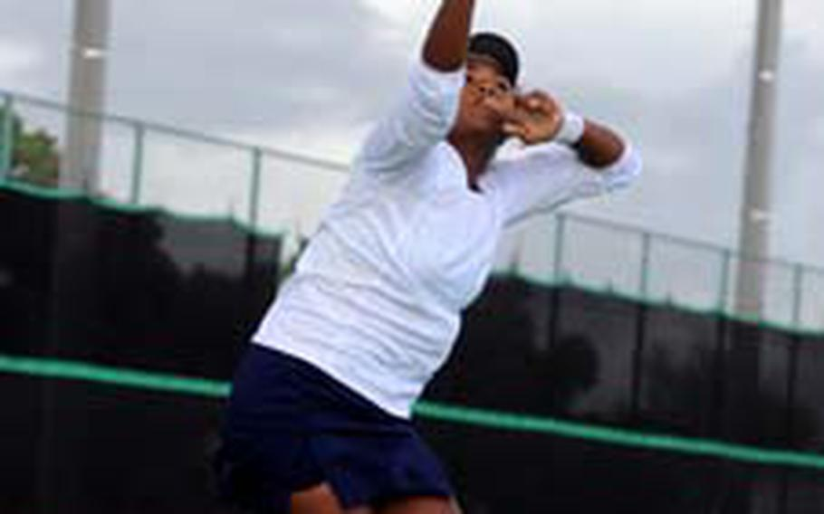 Guam High junior Amber Gadsden just completed the finest singles season in school history. But there's one thing missing from Gadsden's résumé: a DODEA Pacific Far East Tournament singles championship.
