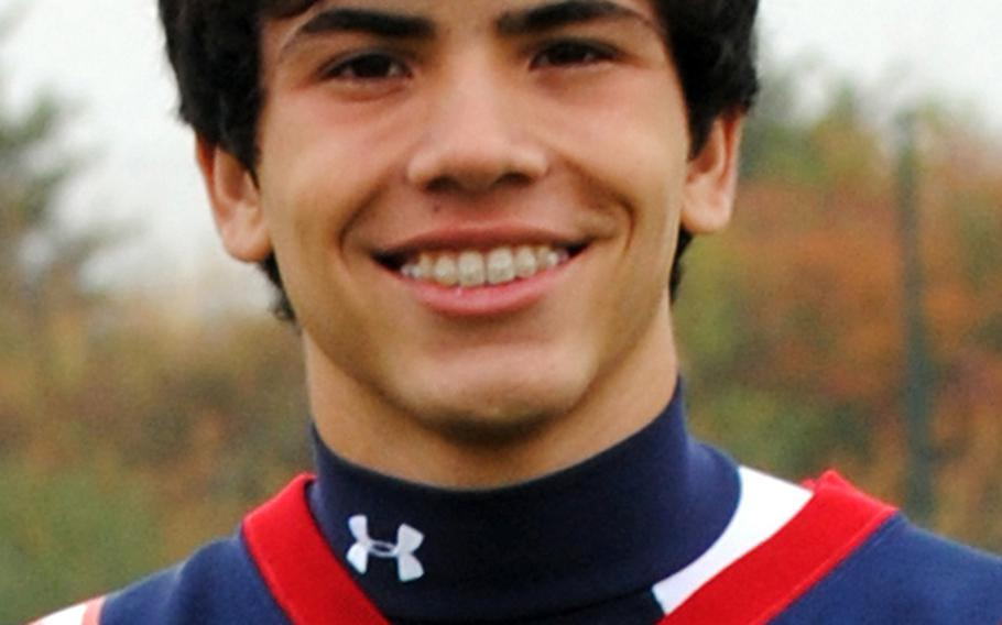 Erick Matos, DB, Bitburg, Sr., 5-9, 150; 9 pass breakups, 4 INTs, 2 forced fumbles. Coach's comment: ''When we needed tight coveraage ... he was our man.''