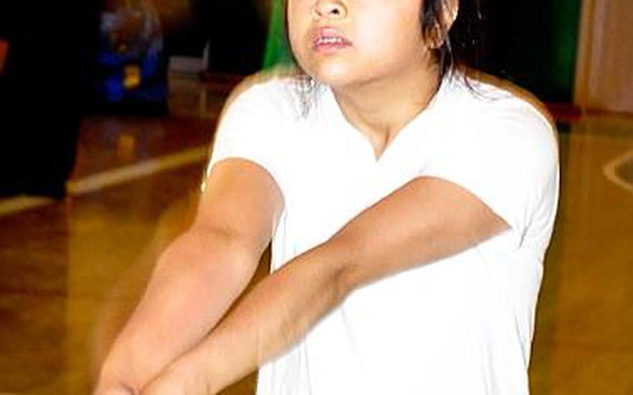 Daegu American senior setter Leanne Quizon.