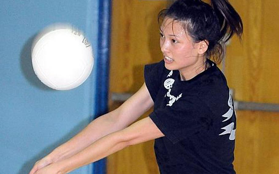 Seoul American senior outside hitter Hannah Swafford.
