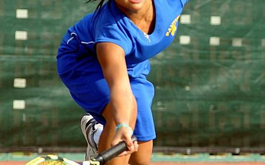 Yokota Panthers senior Far East tennis tournament singles runner-up Erika Ettl.