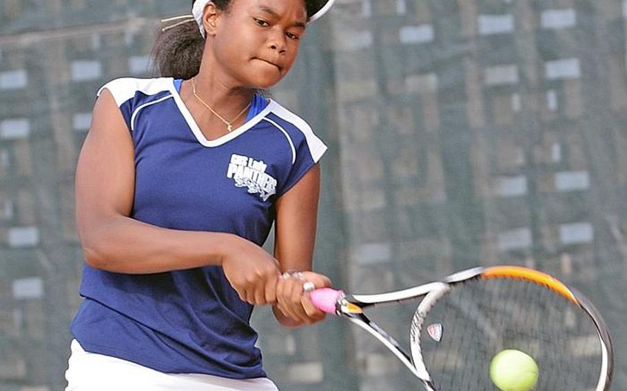 Guam High's Chloe Gadsden joined her sister Amber as girls singles titlists in a Far East High School Tennis Tournament.