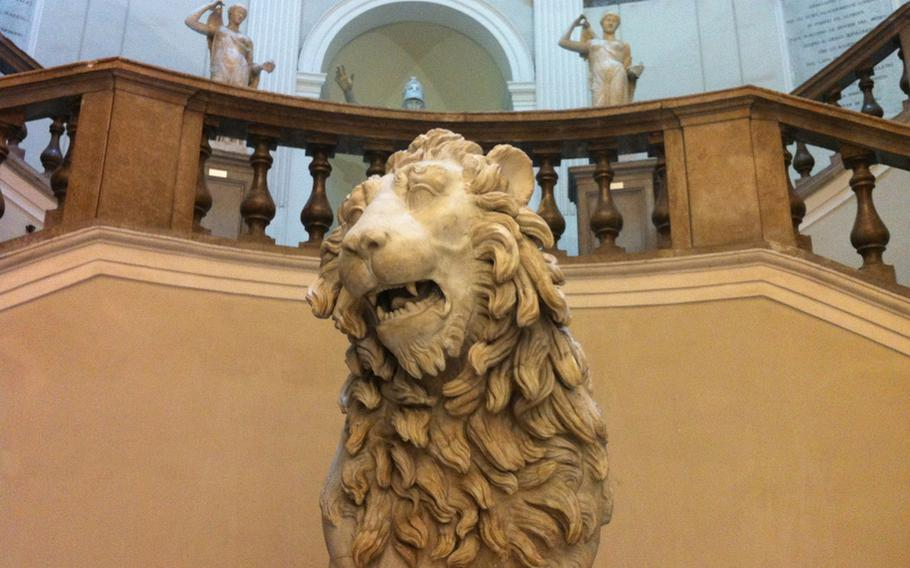 The National Archaeological Museum in the heart of Naples, Italy, is a great place to get acquainted with the rich history of the region, including this feline statue.