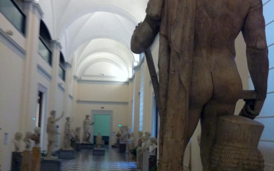 The Naples National Archaeological Museum in the heart of the old city is full of statues and other ancient Roman works of art.
