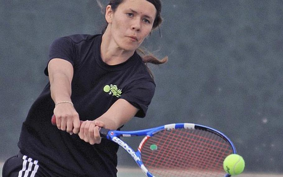 Yokota Panthers senior Emily Beemsterboer, the third DODDS Japan player in four years to win a Kanto Plain Associationn of Secondary Schools tennis tournament girls singles title, has gone unbeaten in the last three regular seasons.