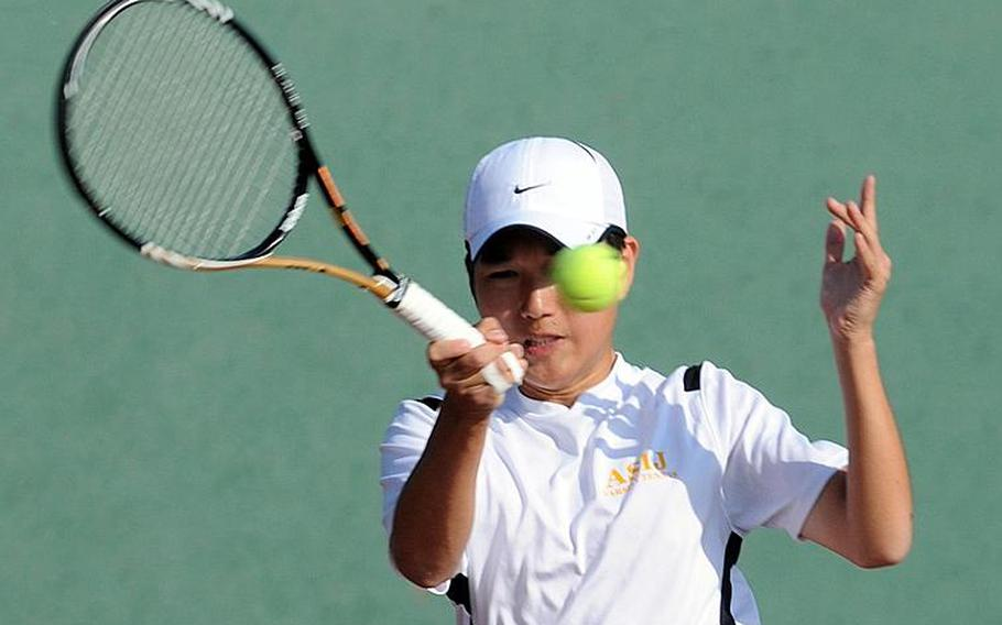 American School In Japan's Kentaro Ishihara was named Stars and Stripes' Pacific high school boys tennis Athlete of the Year and to Stripes' All-Far East team.