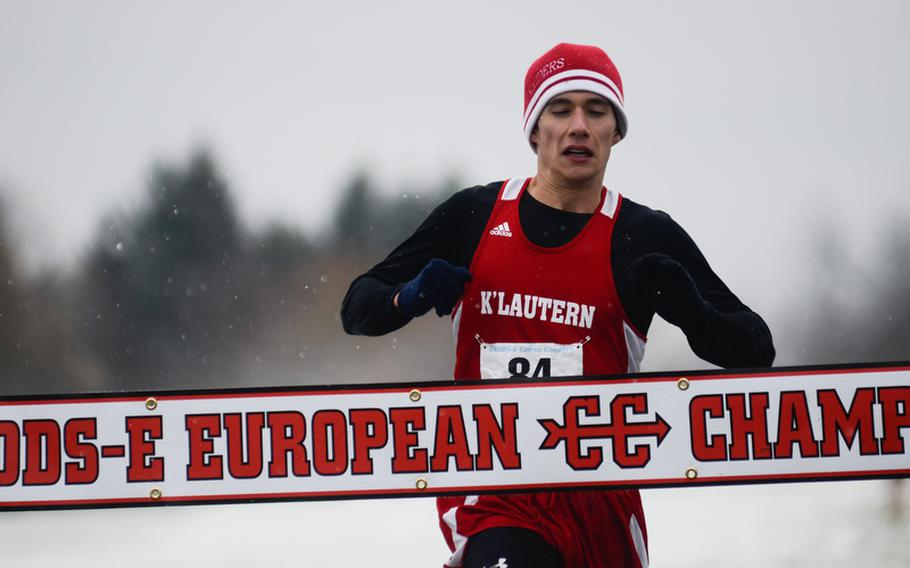 Kaiserslautern's Michael Lawson, the boys' DODDS-Europe cross country championships overall first place finisher with a time of 16:56.79, has been named Stars and Stripes' boys cross country Athlete of the Year.