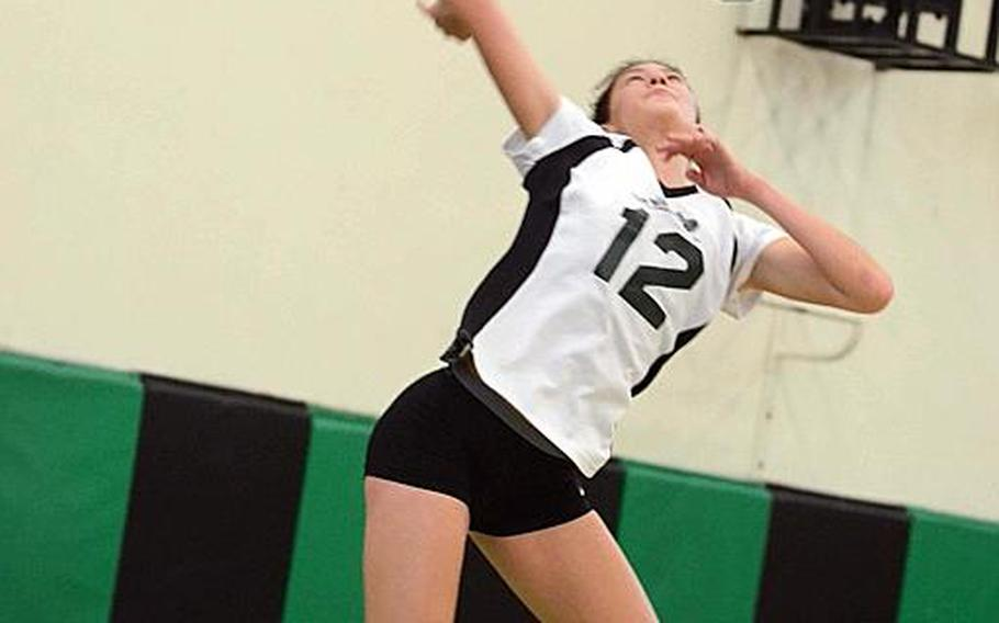 Dave Ornauer/Stars and Stripes  Daegu senior middle blocker Lari Robertson has been named Stars and Stripes Pacific high school volleyball Athlete of the Year.