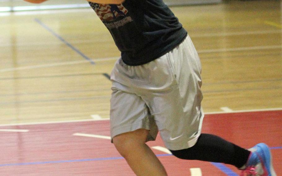 Zama American senior basketball guard Kiarrys Nicole Oquendo.