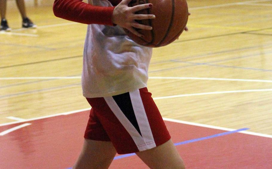Zama American Trojans senior basketball guard Ariel Hicks.
