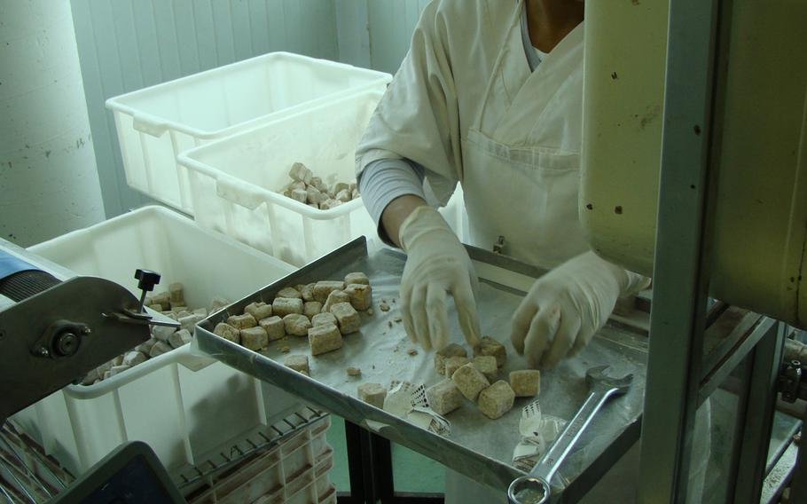 Chocolate praline candies laced with truffles are made at the TartufLanghe factory near Alba, Italy. Most of the company's products can be ordered online.