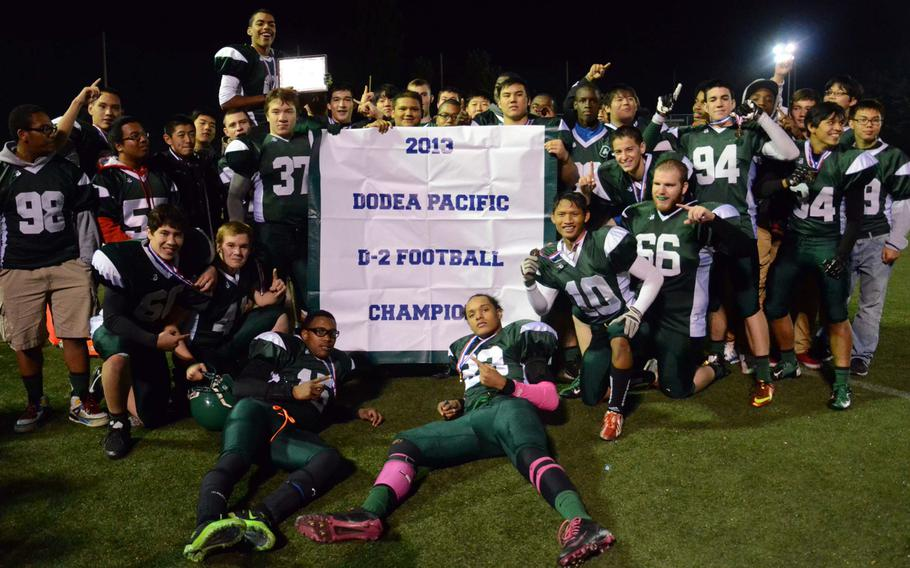 With their 33-12 win over Robert D. Edgren, Daegu High's Warriors captured their third D-II title in four years; they're now 3-2 overall in D-II finals dating back to 2007. The Eagles fell to 3-3 in their record six D-II title-game appearances.