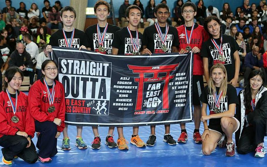 Three times as nice for the St. Maur Cougars, who captured their third straight Far East Cross Country Meet Division II overall school banner on Tuesday.