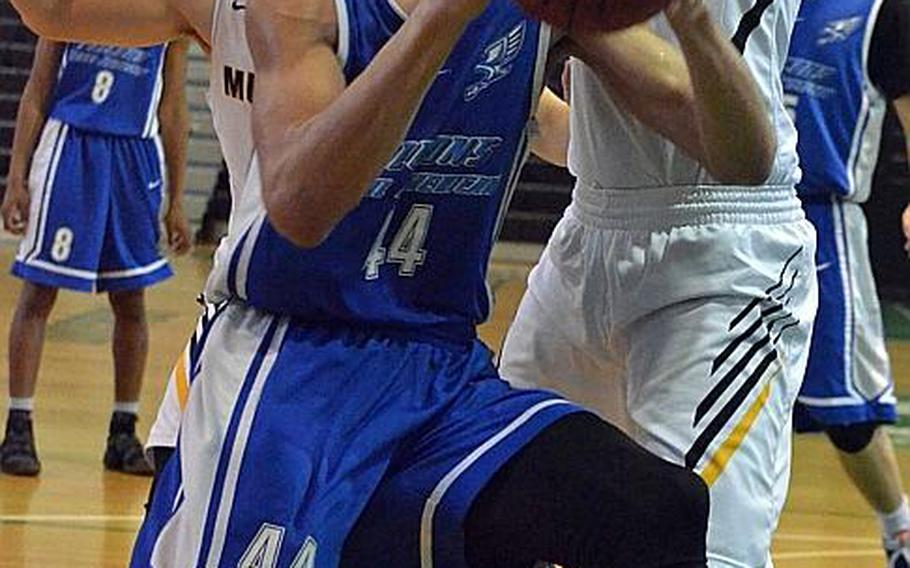 Seoul American's 6-foot-7 sophomore center Quintin Metcalf averaged 27.4 points, 17.1 rebounds and 3.4 blocks per game during last month's Far East Division I Tournament, leading the Falcons to their first D-I title in nine seasons.