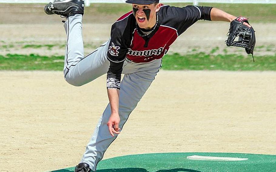 Junior Garrett Macias is one of three veteran pitchers who figure to be the cornerstone as Matthew C. Perry seeks its first Far East Division II baseball tournament title.
