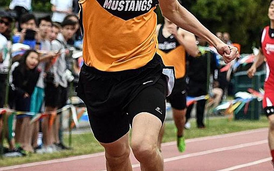 American School In Japan senior Britt Sease is expected to take aim at the Pacific record in the 400, which he briefly held last year before Nile C. Kinnick's Jabari Johnson took it back with a 48.25. Sease has already run a 48.35, in Saturday's opening meet at Yokota.