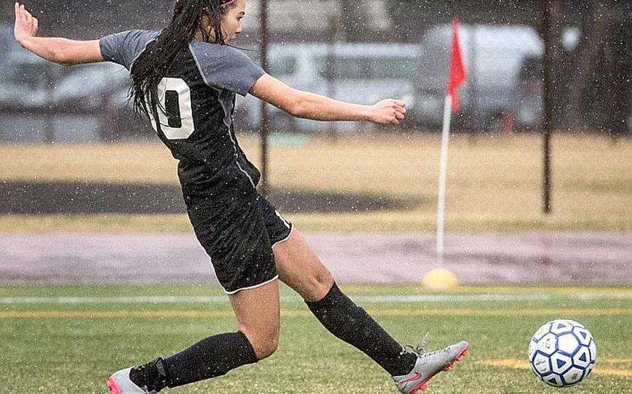 Senior Amanda Stephens, who had nine goals last season for Zama, has already scored eight times for the Trojans, who began the season 2-1, including a 4-1 win Tuesday at two-time defending Far East Division II champion Yokota in which Stephens scored four times.