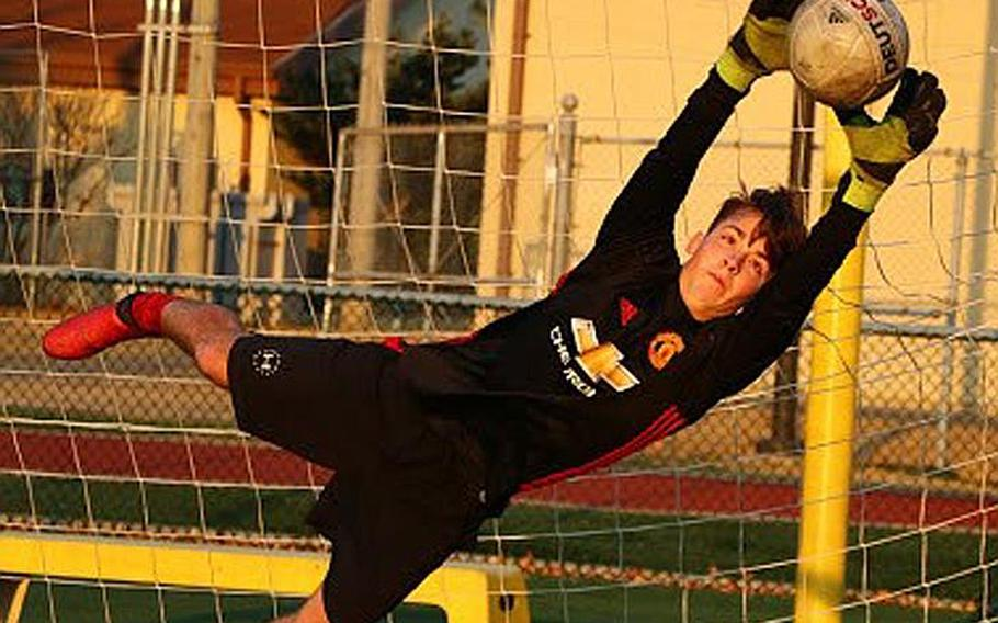 Junior goalkeeper Gage Zach figures to be a vital cog as Daegu boys soccer continues to improve from a 1-win season in 2015 to 9 wins a year ago and now off to a 2-0 start in the 2017 season.