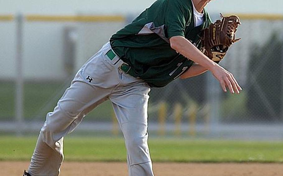 Freshman Shanon Hyde of Kubasaki feels that most teams won't have enough pitchers to pitch effectively with the new pitch-count limits imposed for this year's Far East baseball tournaments.