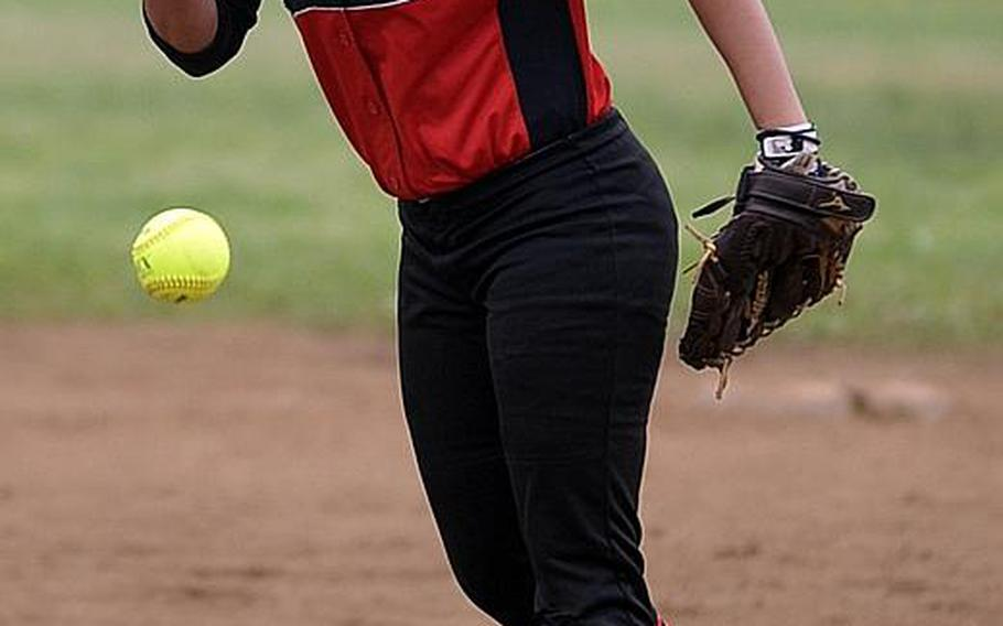 Freshman Mariah Wimberly has pitched Nile C. Kinnick to the top of the heap in Kanto Plain and DODEA-Japan softball.