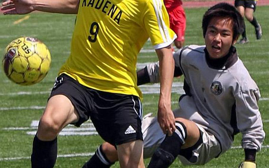 Kian Smith, a sophomore, paces Kadena's boys soccer team in goals with 15.