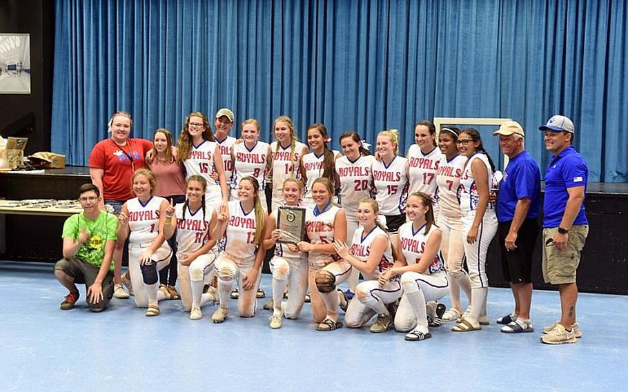 The Ramstein Royals softball team won the DODEA-Europe Division I Softball Championships at Ramstein Air Base, Germany on Saturday, May 27.