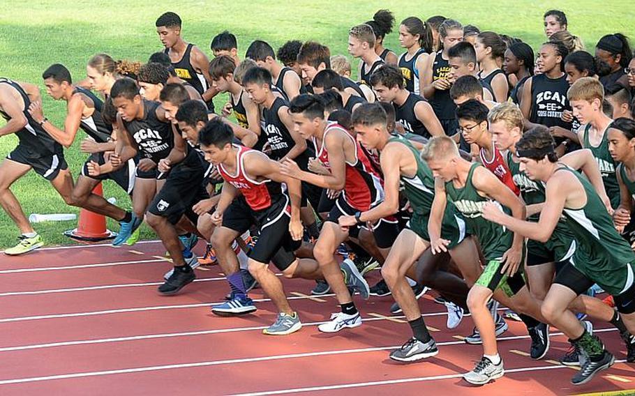 Runners from Kadena, Kubasaki, Okinawa Christian and Zion Christian conclude the Okinawa season with the all-island finals on Wednesday at Cape Zampa.
