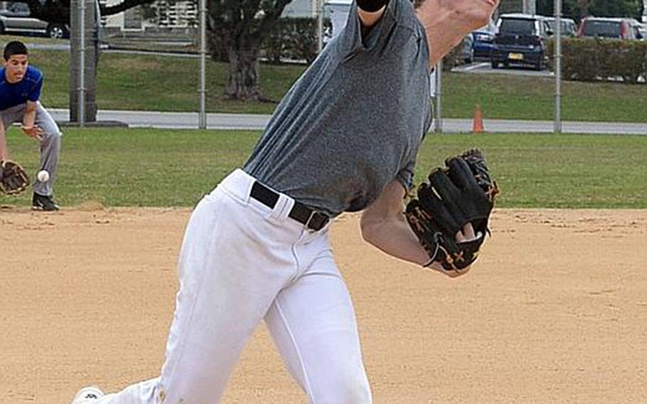Senior Cody Sego is one of two main pitching options for Kadena, hoping to finally win a Far East Division I Tournament title after just missing in six finals appearances.
