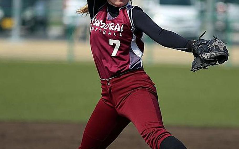 Sophomore Hailey Greulich returns to the mound, one of two pitching options for Matthew C. Perry softball.