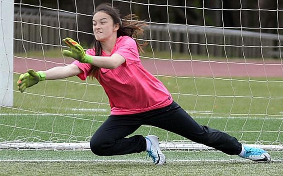 Sophomore Emily Taynton returns as goalkeeper for Yokota girls soccer.