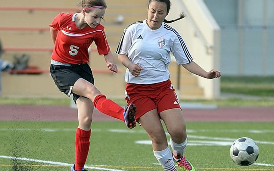 Sophomore Gabi Shultz is a key scoring and midfield option for E.J. King girls soccer, one of the Pacific's most improved teams in any sport last school year.