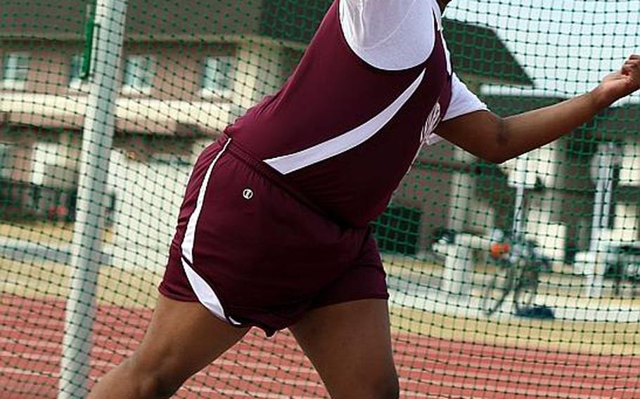 Senior Robert Wall will do throws for Matthew C. Perry, making its debut as a track program.