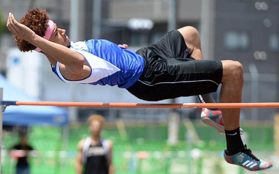 Quintin Metcalf, a Humphreys junior, is taking aim at the Pacific's high jump record of 2 meters; he reached 1.88 last spring.